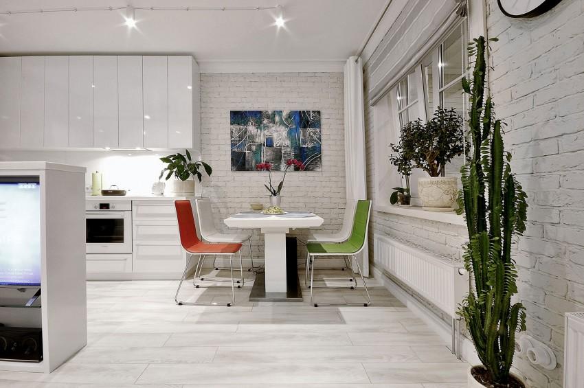 Фото дизайна однокомнатной квартиры с перегородкой
