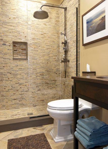 Бежевые ванные комнаты