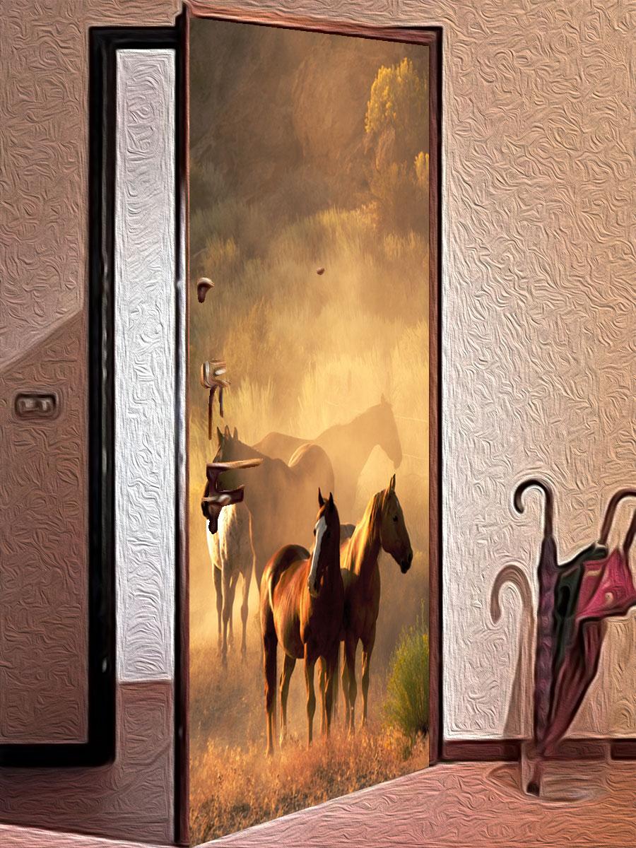 Как украсить стекла на дверях своими руками