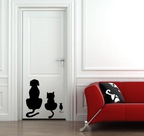 Рисунки на двери в ванную своими руками