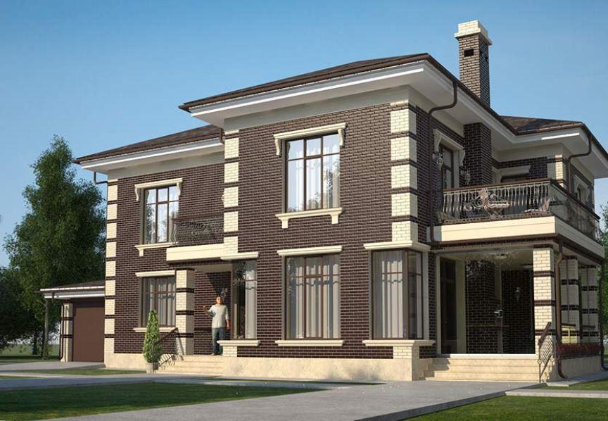 Дизайны фасадов частных домов