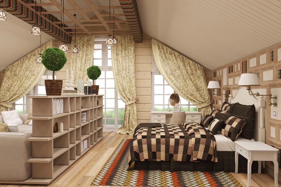 Дизайн внутри дома из клееного бруса