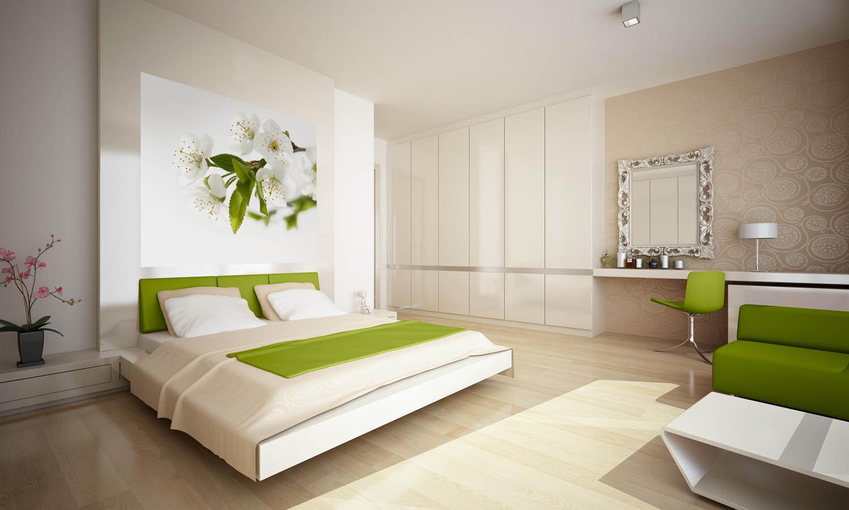 Фотообои тюльпаны в спальне фото