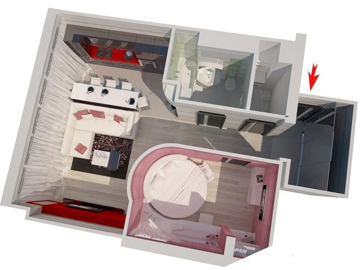 Перепланировка 3-х комнатной квартиры в хрущевке и в