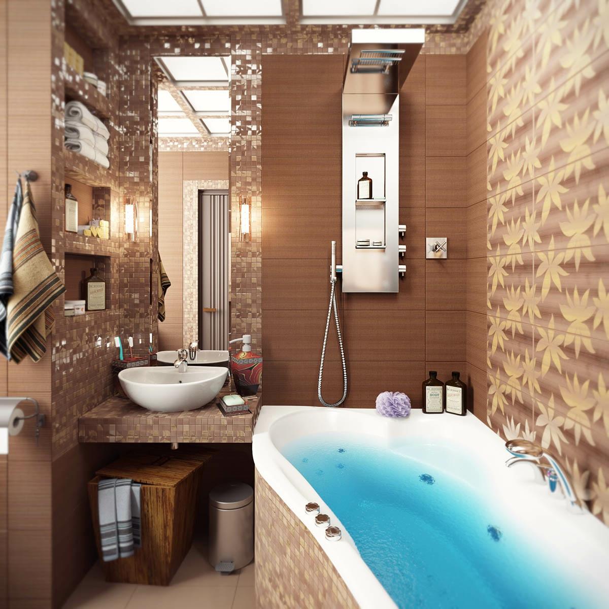 Фото маленькой ванной интерьер