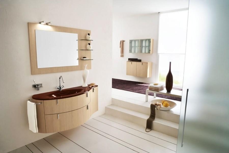 Коричневая ванная комната, фото
