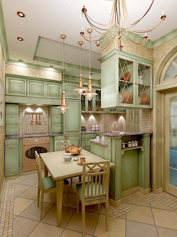 Мишка маСтиль прованс в интерьере кухни своими