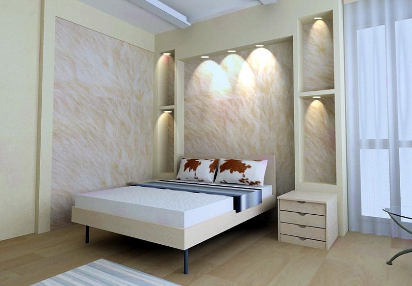 Ниши стен в спальне дизайн