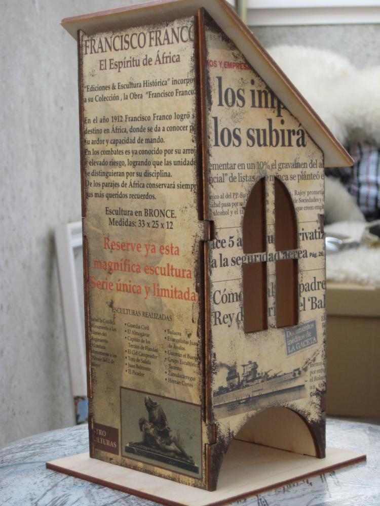 Декупаж коробки из газет
