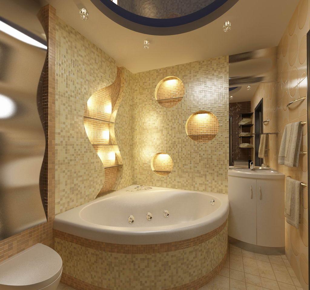 Дизайн ванной с размерами