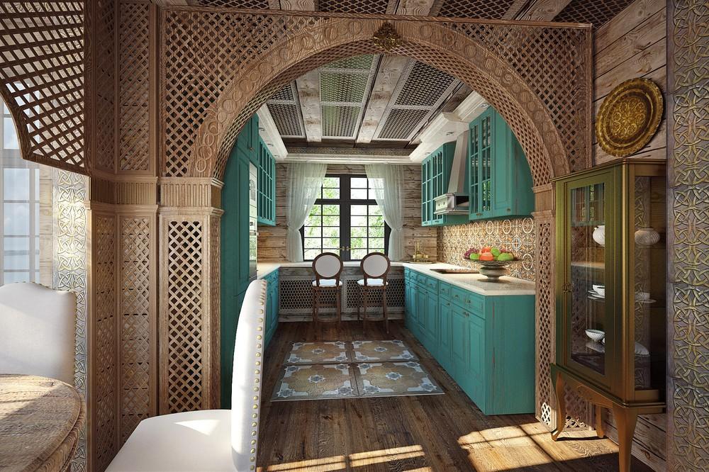 Зеленый в интерьере кухни фото