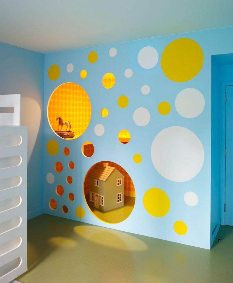 Детские домики своими руками на стенах
