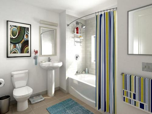 Интерьер ванной 5 кв.м.