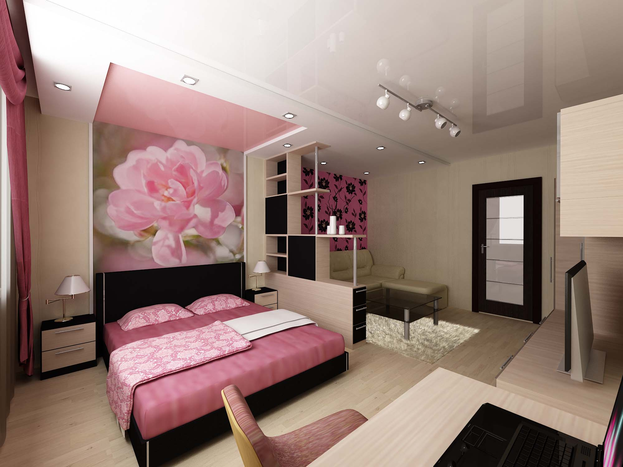 Однокомнатная квартира дизайн