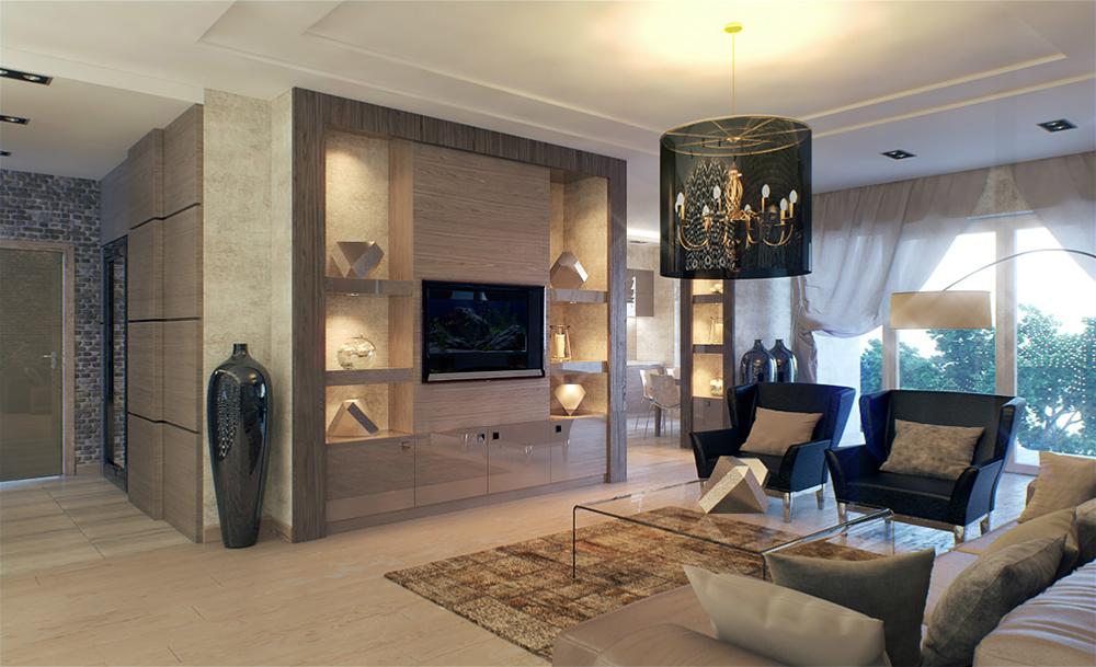 Готовые дизайн проекты 1 комнатных квартир 146