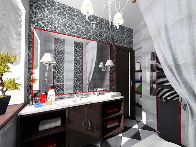 Дизайн интерьера ванной 6 кв.м. - фото