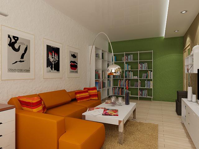 Дизайн зала стены