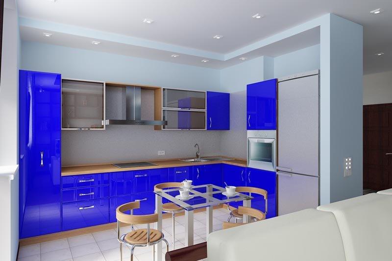 Интерьер кухни 14 кв м можно выполнить