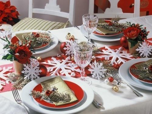 Украшение новогоднего стола2014 фото