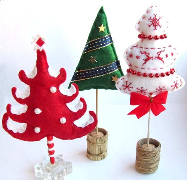 Поделки новогодние елки своими руками фото