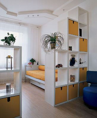 Дизайн интерьер комнаты в однокомнатной квартире