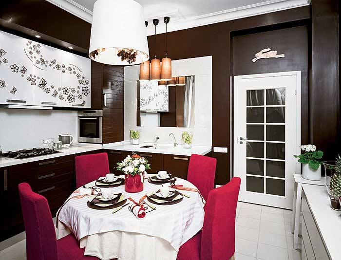 Кухня в шоколадном цвете дизайн фото