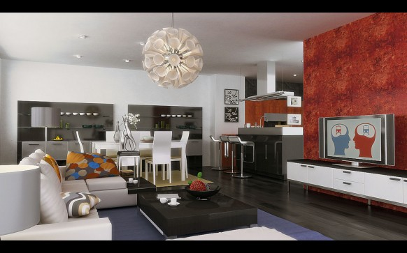 Совмещение гостиной и столовой