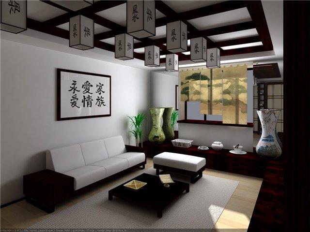 Гостиная в японском стиле фото