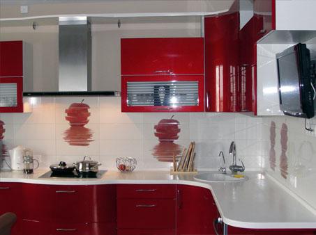 кухни бордового цвета