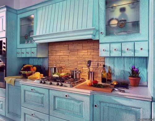 голубой цвет кухни
