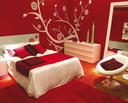 фото красная спальня
