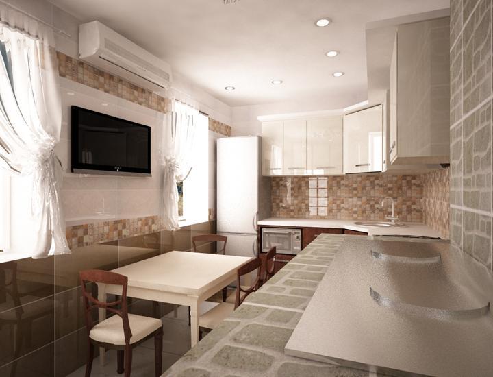 Дизайн кухни 30 квадратов