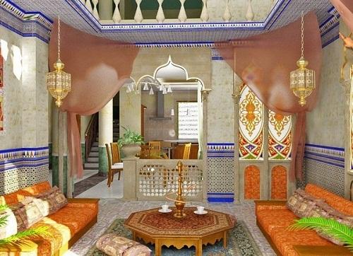 Интерьер гостиной в восточном стиле