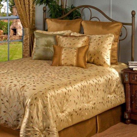 дизайн спальни в золотом цвете