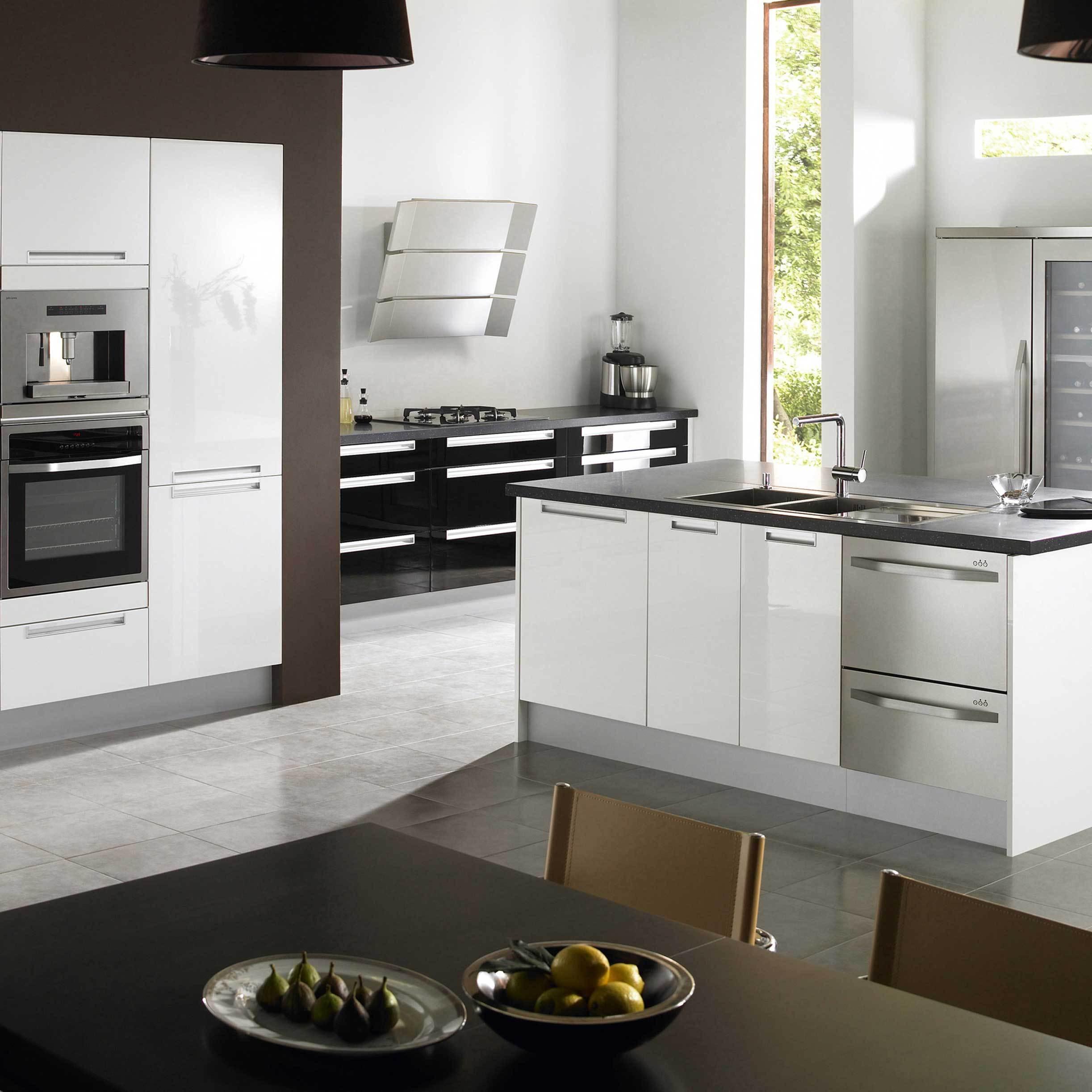Дизайн кухни хай тек кухни в стиле