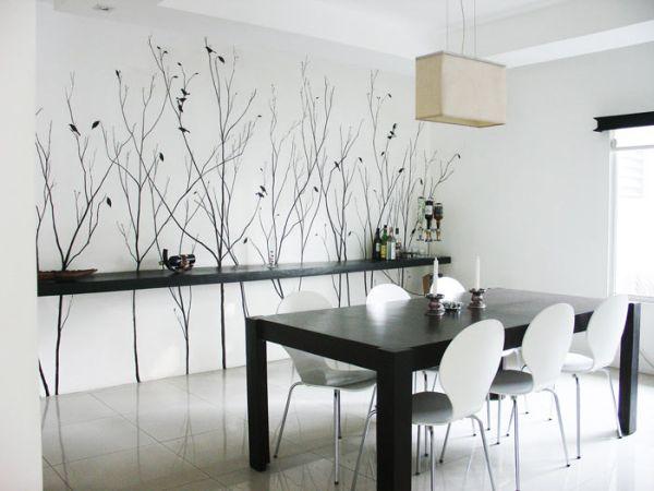 роспись стен в интерьере, фото