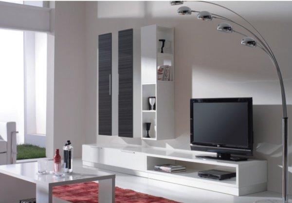 интерьер гостиной комнаты в стиле модерн Modern и минимализм