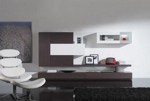 Гостиной комнаты в минимализме все