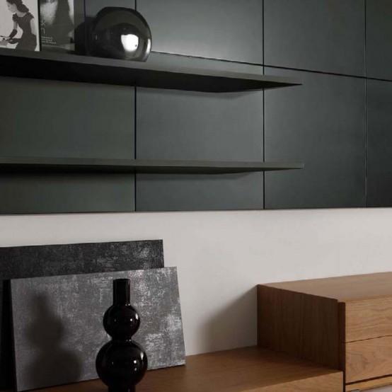 интерьер в гостиной в стиле модерн