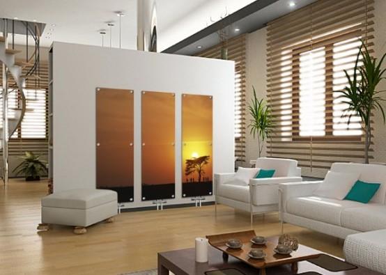 Художественные стеклянные радиаторы, фото