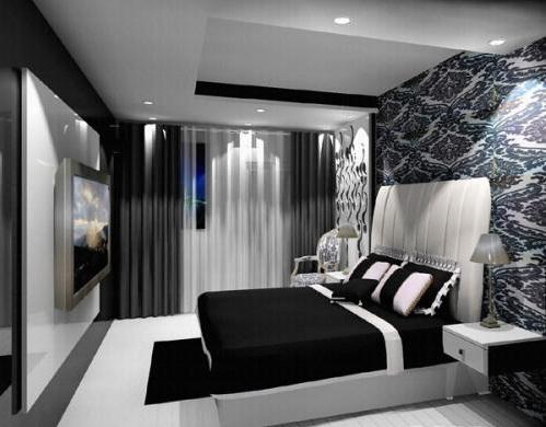 фото черно белые спальни