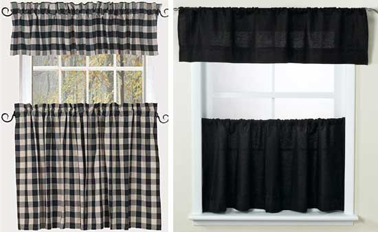Black And White Checked Curtains Black and White Checkered Kit