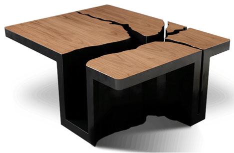 Оригинальный журнальный столик дерево, фото