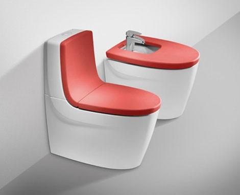 ванная в красном цвете
