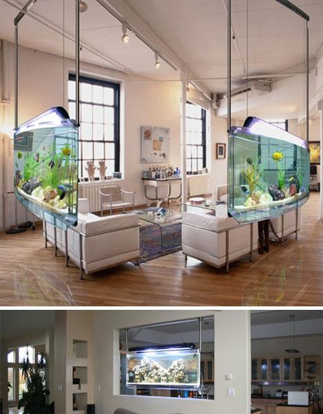 аквариум в интерьере фото