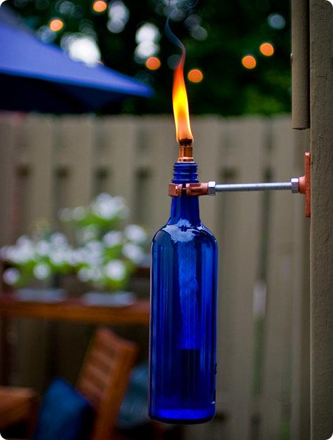 Светильники из бутылки своими руками