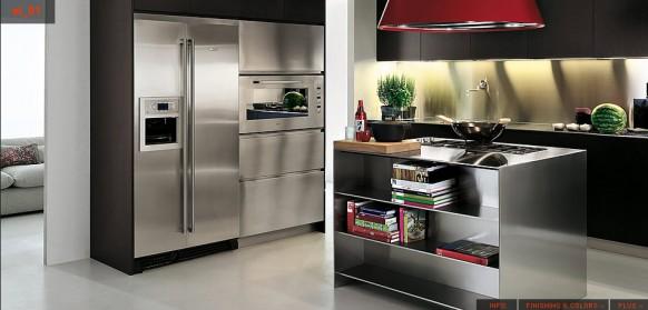 кухни стальной цвет