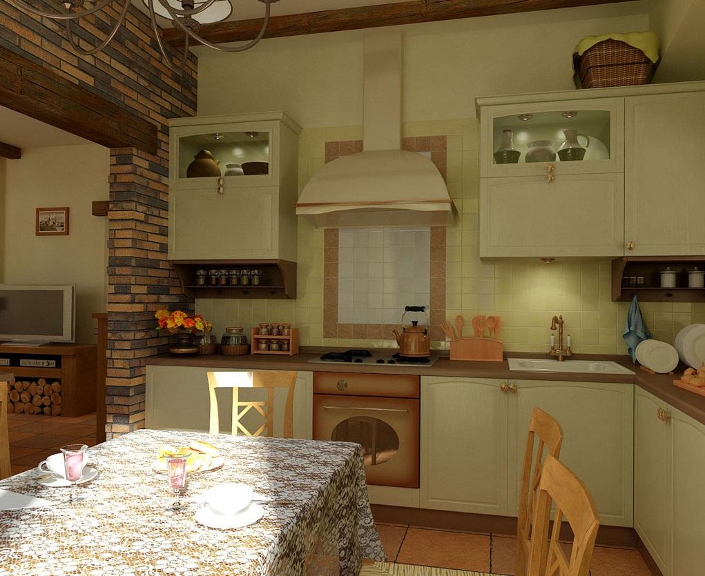 Кухни в стиле кантри, фото - Интернет