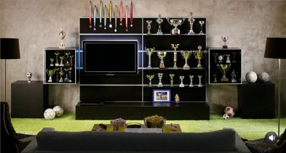 футбольный стиль в интерьере квартиры
