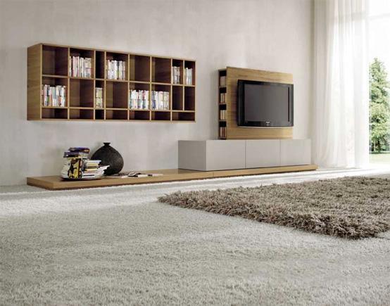 интерьер гостиной в стиле минимализм, фото